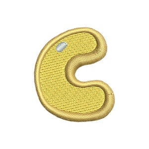 Letter C Kids Embroidery Design