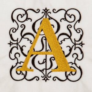 Alphabet Monogram A Embroidery Design