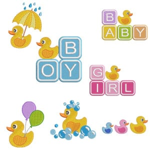 Toy Duckling embrodeiry design pack