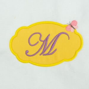 Alphabet Frame Letter M (Applique) Embroidery Design