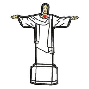 Matriz de bordado Cristo Redentor (Aplique)