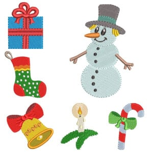 Christmas Embroidery Design Pack