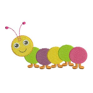 Centipede Embroidery Design