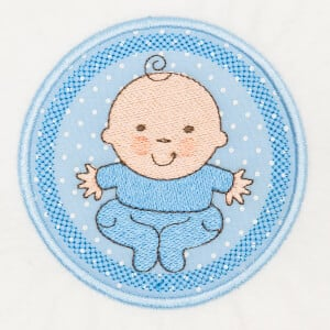 Baby Frame (Applique) Embroidery Design