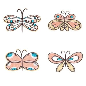 Butterflies Embroidery Design Pack