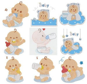 Babies Embroidery Design Pack