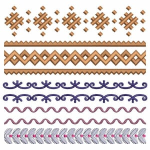 Borders Embroidery Design Pack