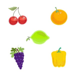 Fruit Embroidery Design Pack