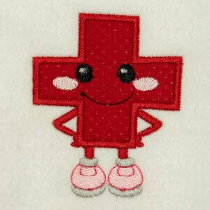 Addition Sign Very Happy in Applique Embroidery Design