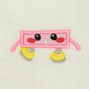 Subtraction Sign  Very Happy in Applique Embroidery Design
