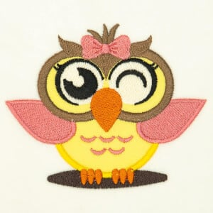 Cute Owl (Applique) Embroidery Design