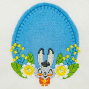 Easter Frame (Applique) Embroidery Design