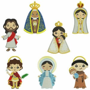 Saints Embroidery Design Pack