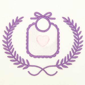 Bib in Frame (Rippled) Embroidery Design