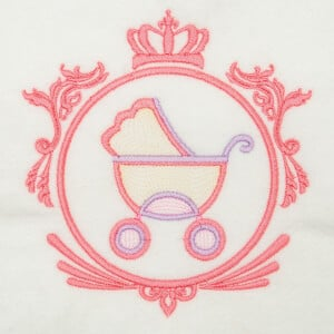 Baby Carriage Frame Embroidery Design