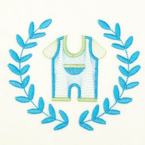 Clothes in Frame (Rippled) Embroidery Design