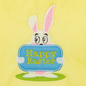 Easter bunny (Applique) Embroidery Design