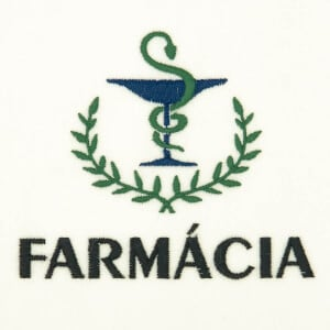 Matriz de bordado Logo de Farmacia