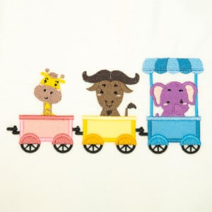 Zoo Train (Applique) Embroidery Design