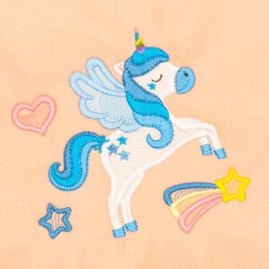 Winged Unicorn (Applique) Embroidery Design