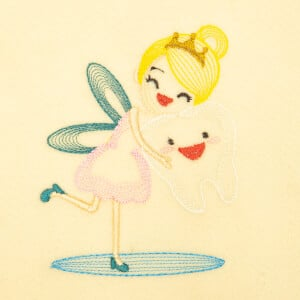 The Tooth Fairy (Rippled) Embroidery Design