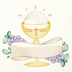 Holy Supper (Rippled) Embroidery Design