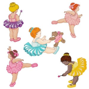 Ballerinas Embroidery Design Pack