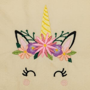 Unicorn Face Embroidery Design