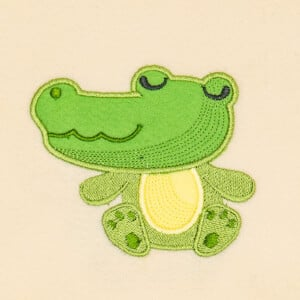 Cute Jacare (Applique) Embroidery Design