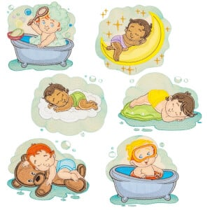 Babies in Applique Embroidery Design Pack