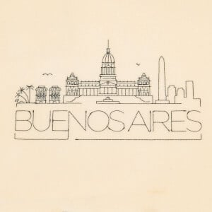 Buenos Aires Silhouette Embroidery Design