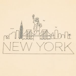 New York Silhouette Embroidery Design
