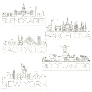 City Silhouettes Embroidery Design Pack
