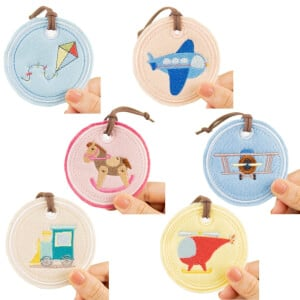 Toy Keychains Embroidery Designs Pack (In The Hoop)