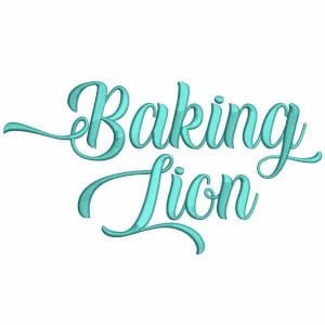 Alphabet Font Baking Lion Embroidery Design Pack