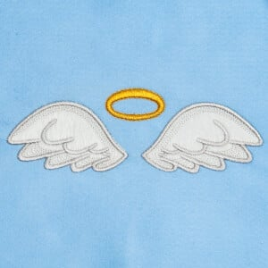 Angel Wings with Halo (Applique) Embroidery Design