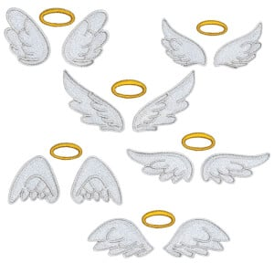 Angels wings Embroidery Design Pack