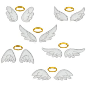 Angel Wings in Aplique Embroidery Design Pack