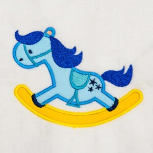 Rocking Horse (Applique) Embroidery Design