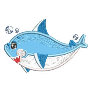 Baby Shark (Applique) Embroidery Design
