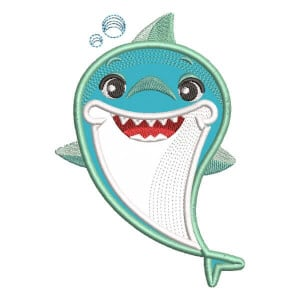 Brother Shark (Applique) Embroidery Design