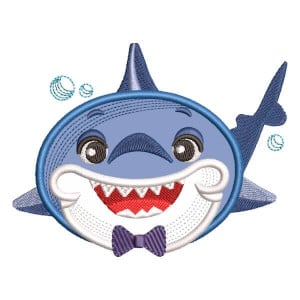 Daddy Shark (Applique) Embroidery Design