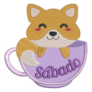 Matriz de bordado Raposa de Sábado (Applique)