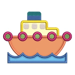 Ship (Applique) Embroidery Design