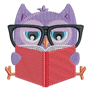 School owl Embroidery Design