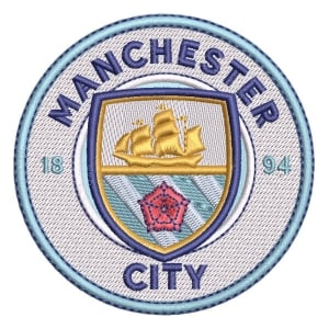 Matriz de bordado Escudo Manchester City