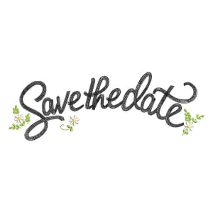 Save the Date Embroidery Design