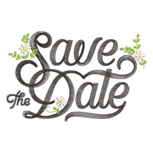 Matriz de bordado Save the Date