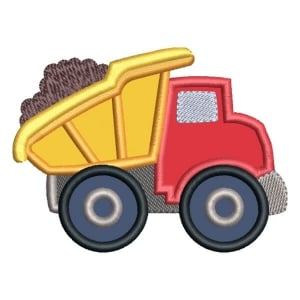 Truck Toy (Applique) Embroidery Design