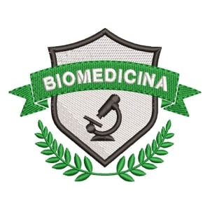 Matriz de bordado Logo Biomedicina